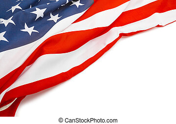 USA flag with place for your text - close up - US flag with...