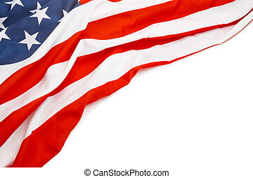 Close up shot of USA flag with place for your text - Close...