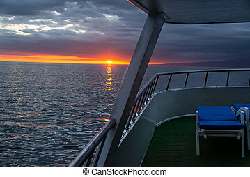 Sunset from a Ship in Galapagos
