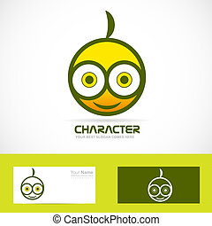 Character funny logo - Vector company logo icon element...