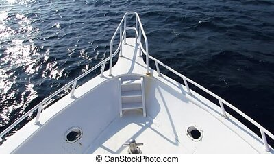 Luxury yacht - Luxury motor yacht, the nose of the boat