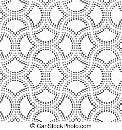 Dotted circle pin will - Abstract geometric background. Gray...