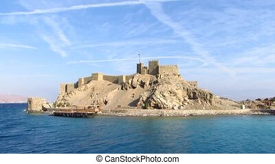 Pharaoh's Island in Egypt - Salah El-Din Fortress on Pharaoh...