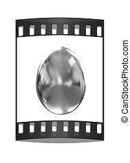 Big golden easter egg. The film strip