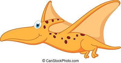 Pterodactyl dinosaur cartoon - Vector Illustration of...