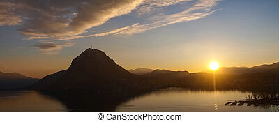2014 Parco San Michele - Switzerland - Ticino, Lugano Sunset...