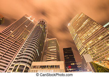 Singapore - AUGUST 4, 2014: Office buildings on August 4 in Sing