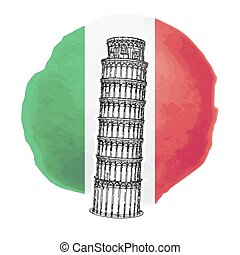 The Leaning Tower of Pisa - Illustration of the Leaning...