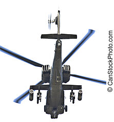Isolated on white fighting helicopter type AH-64 Apache