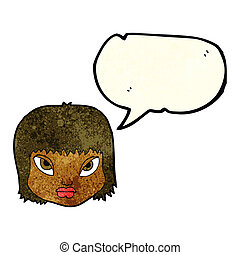 cartoon annoyed face with speech bubble