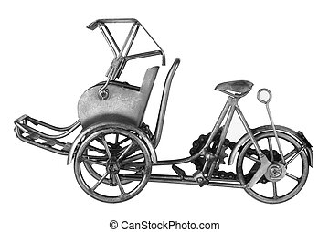 Rickshaw on White Background