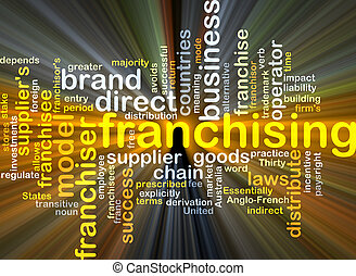 Franchising background concept glowing - Background concept...