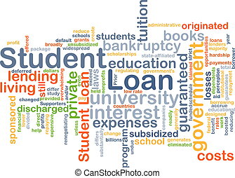 Student loan background concept - Background concept...