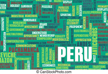 Peru as a Country Abstract Art Concept