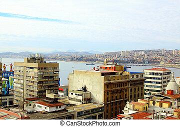 Panorama of Valparaiso - Chile, Latin America. colorful...
