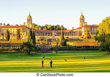 Union Buildings, Pretoria at Sunset - Union Buildings,...