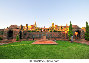 Union Buildings, Pretoria at Sunset - Union Buildings,...