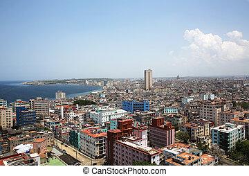 Cityscape Havana Cuba - cityscape of Vedado and Centro...