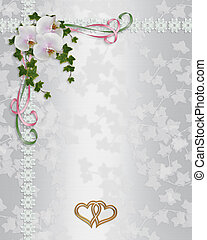Wedding Invitation elegant orchids - Illustration design...