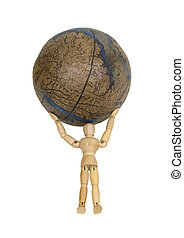 Atlas holds the world - Atlas holding up the world shown by...