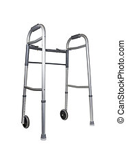 Walker - Metal walker used to assist when walking for...