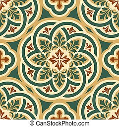 ornament byzantine - vector seamless pattern with Byzantine...