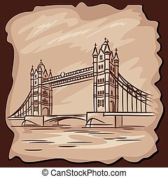 Tower bridge - vector images of London Tower bridge in...