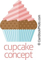 Cupcake concept design of a stylised cup cake or fairy cake