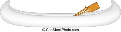 Canoe in white design