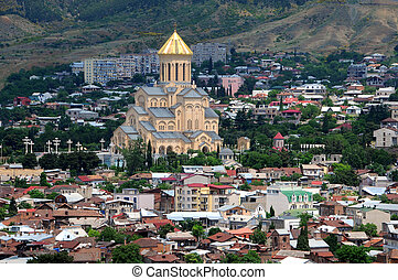 Trinity Church in Tbilisi - View of Holy Trinity cathedral,...