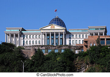 Presidential Palace in Tbilisi - Presidential Palace against...