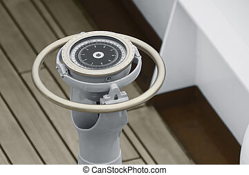 Naval gyrocompass  - Close up of a Naval gyrocompass