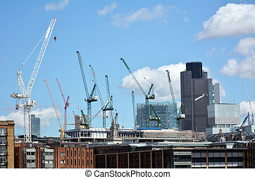 New construction buildings in City of London - LONDON - MAY...