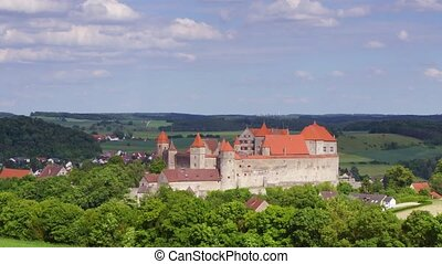 Harburg - Panoramic time-lapse of Harburg castle in Bavaria,...