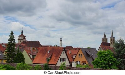 Rothenburg - Panoramic time-lapse of Rothenburg town,...