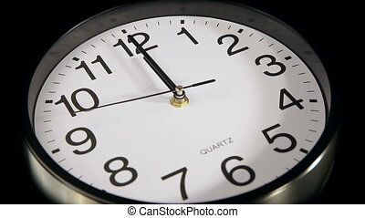 clock on the wall - clock black on the wall, 12:00