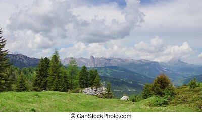 Alpine landscape 3 - Panormaic time-lapse of Dolomites...