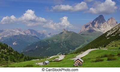 Alpine landscape - Panormaic time-lapse of Dolomites...