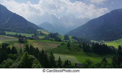 Dolomites 4 - Panormaic time-lapse of Dolomites mountains,...