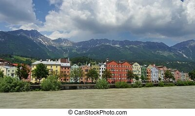 Innsbruck - Panoramic time-lapse of Innsbruck downtownn