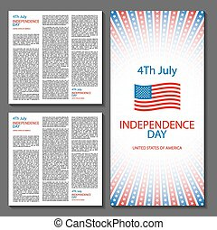 Happy independence day card United States of America, 4 th July
