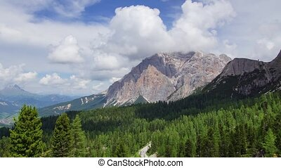 Dolomites 2 - Panoramic time-lapse of Dolomites mountains in...
