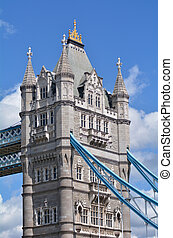 Tower Bridge in London - England UK - The North tower of the...