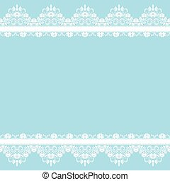 lace border - Wedding invitation or greeting card with lace...