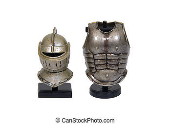 Knights armor - Medieval helm and chestpiece armor for...