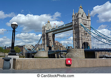 Tower Bridge in London - England UK - View of the Tower...