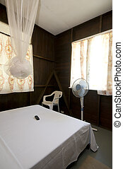 budget guest house room with mosquito net - simple budget...