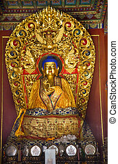 Blue Buddha Hands of Peace Altar Offerings Yonghe Gong...