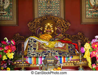 Laughing Buddha Altar Offerings Yonghe Gong Buddhist Lama...