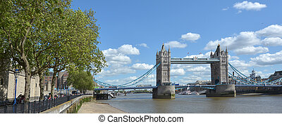 Tower Bridge in London - England UK - LONDON, UK - MAY 12...